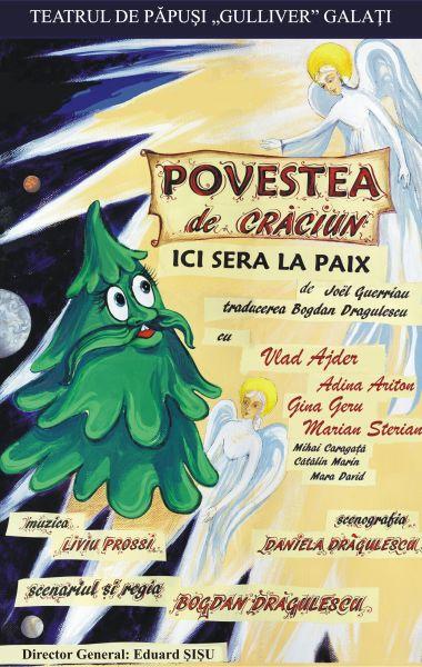 POVESTEA DE CRĂCIUN - spectacol caritabil, Teatrul de Papusi Guliver Galati