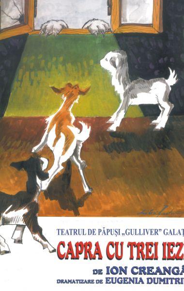 Capra cu trei iezi, spectacol gratuit la Foişorul de pe Faleza Inferioară a Dunării, Teatrul de Papusi Guliver Galati