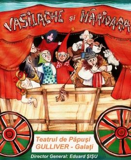 VASILACHE ŞI MĂRIOARA, spectacol gratuit pe Faleza Inferioară a Dunării, la Foişor, Teatrul de Papusi Gulliver, Galati